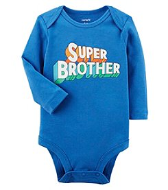 Carters' Baby Boys' Long Sleeve Super Brother Bodysuit