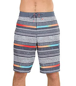 Speedo Men's Ingrain Stripe E-Board Swim Trunks