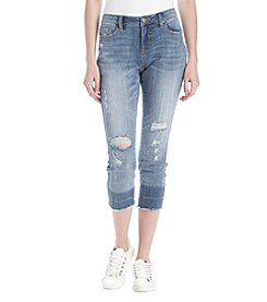 Ruff Hewn Distressed Detail Cropped Skinny Jeans