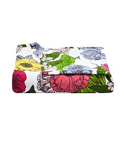 Living Quarters Floral Micro Cozy Throw