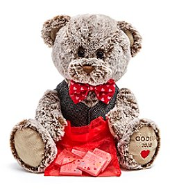 Godiva Chocolatier Valentine's Day 2018 Limited Edition Bear with 6-Piece Chocolate Carrés