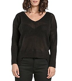 Miss Halladay High Low Knit Sweater
