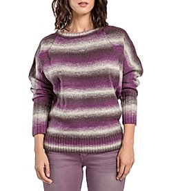 Miss Halladay Striped Raglan Knit Sweater