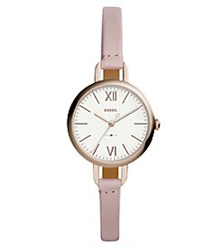 Fossil Annette Three Hand Leather Watch