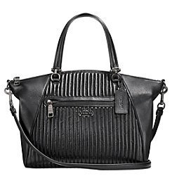 COACH PRAIRIE SATCHEL IN QUILTED LEATHER