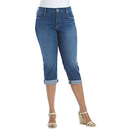 Relativity Plus Size Rolled Cuff Jeans