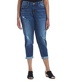 Ruff Hewn Plus Size Destructed Ankle Jean