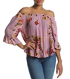 Hippie Laundry Floral Pattern Ruffle Design Top