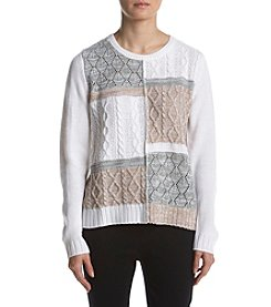 Alfred Dunner Petites' Colorblock Textured Sweater