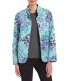 Alfred Dunner Scroll Patch Quilt Jacket