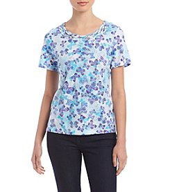 Alfred Dunner Scattered Butterfly Top