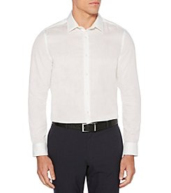 Perry Ellis Men's Long Sleeve Dobby Slim Fit Button Down Shirt