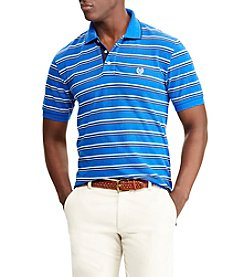 Chaps Men's Short Sleeve Stretch Stripe Pique Polo