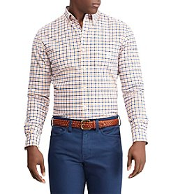 Chaps Men's Long Sleeve Stretch Plaid Oxford Button Down Shirt
