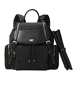 Michael Kors Beacon Large Flap Diaper Bag Backpack Bag