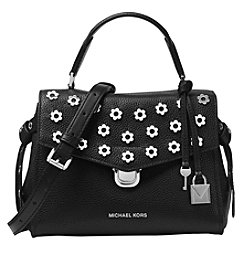 Michael Kors Bristol Floral Studded Leather Satchel - Small
