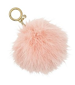 Michael Kors Large Feather Pom Pom Key Chain