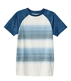 Ruff Hewn Boys' 8-20 Short Sleeve Striped Raglan Tee