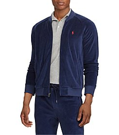Ralph Lauren Men's Velour Baseball Jacket