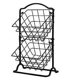 Gourmet Basics by Mikasa Mini 2-Tier Market Basket