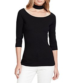 Jessica Simpson Tamary Choker Neck Top