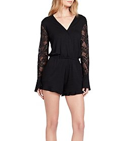 Jessica Simpson Lace Illusion Sleeve Jumpsuit