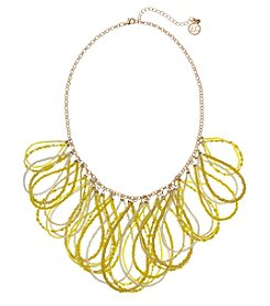 Erica Lyons Yellow Goldtone Short Loops Necklace