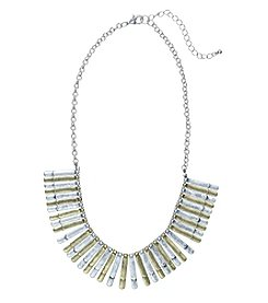 Ruff Hewn Two Tone Mini Stick Frontal Necklace