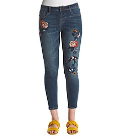 Hippie Laundry Bird And Floral Embroidered Jeans
