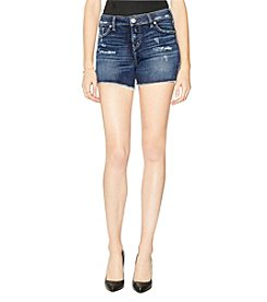 Silver Jeans Co. Elyse Frayed Hem Cuff Distressed Detail Denim Shorts