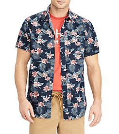 Chaps Men's Big & Tall Tropical Printed Woven Button Down