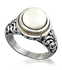 Effy Two Tone Cultured Freshwater Pearl Ring
