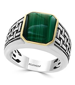 Effy Men's Two Tone Malachite Ring