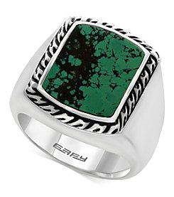 Effy Men's Sterling Silver Created Turquoise Ring