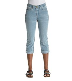 Rafaella Light Wash Cropped Skinny Leg Jeans