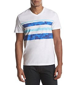 John Bartlett Consensus Men's Striped V-Neck Tee