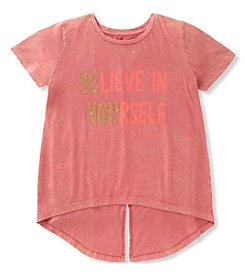 Calvin Klein Girls' 7-16 Short Sleeve Be You Tee