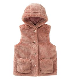 Calvin Klein Girls' 7-16 Faux Fur Vest