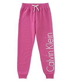 Calvin Klein Girls' 2T-16 Logo Sweatpants