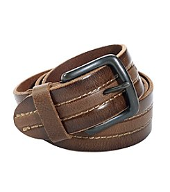 Levi's Men's Center Stitched Leather Belt