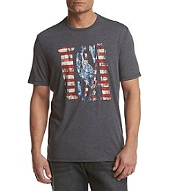 Ruff Hewn Men's Distressed U.S.A. Graphic Tee