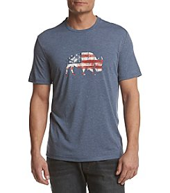Ruff Hewn Men's American Flag Buffalo Graphic Tee