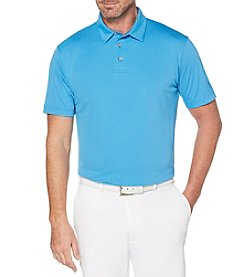 PGA TOUR Men's Big & Tall Short Sleeve Mini Stacked Polo
