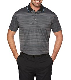 PGA TOUR Men's Big & Tall Short Sleeve Modern Argyle Polo