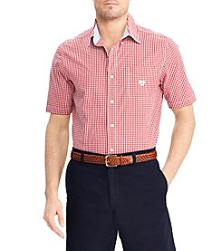 Chaps Men's Easy Care Short Sleeve Button Down Shirt