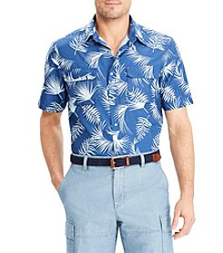 Chaps Men's Woven Palm Print Outdoor Button Down Shirt