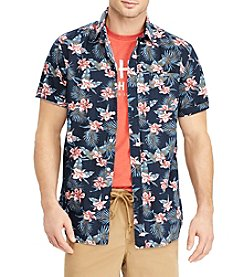 Chaps Men's Floral Print Button Down Shirt