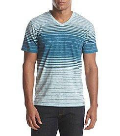 DVISION Men's Short Sleeve Striped V-Neck Tee