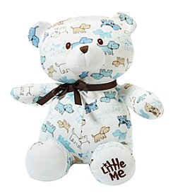Little Me Puppy Print Teddy Bear