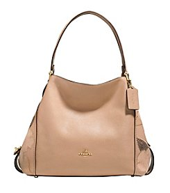 COACH EDIE 31 SHOULDER BAG WITH PATCHWORK SIDES IN POLISHED PEBBLE LEATHER